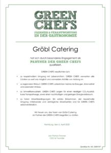 Green Chefs Zertifikat
